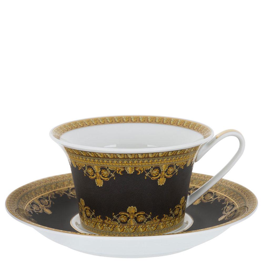 Чайный сервиз 6 персон Rosenthal Versace Baroque Nero черно-золотого цвета
