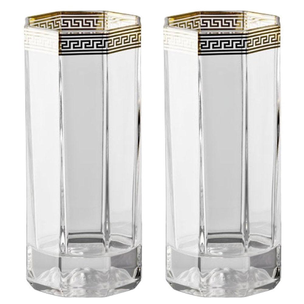 Набор стаканов Rosenthal Versace Medusa Lumiere d'Or 2шт