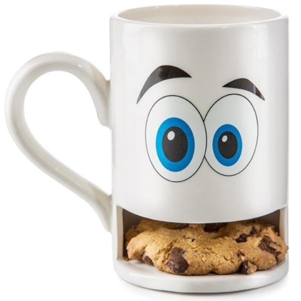 Белая чашка Donkey Monster с отделением для печенья