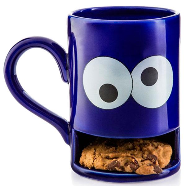 Кружка с отделением для печенья Donkey Monster синяя