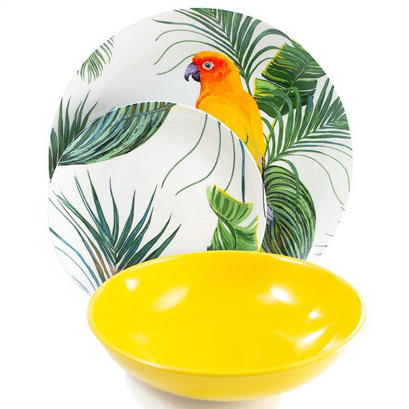 Столовый сервиз Villa D'este Parrot Jungle на 6 персон 18шт
