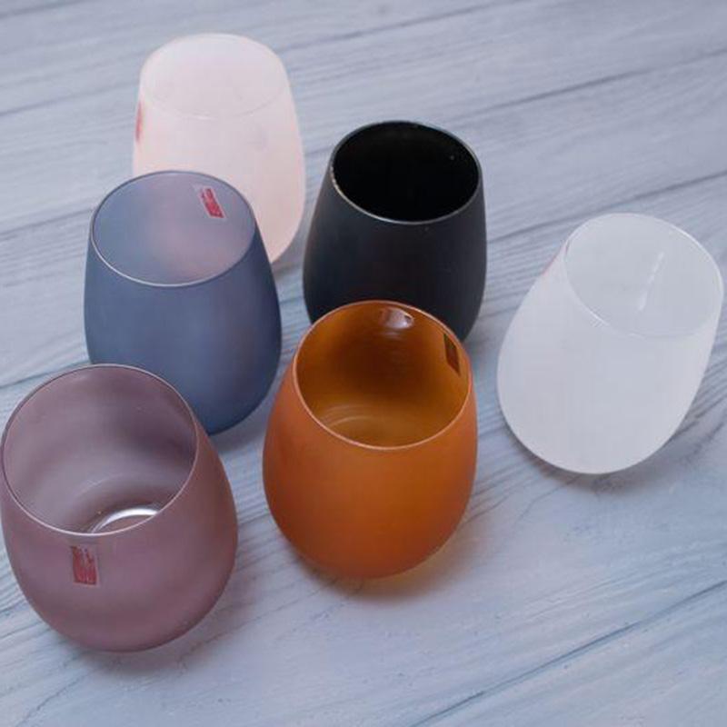 Набор цветных стаканов Villa D'este из матового стекла 6шт