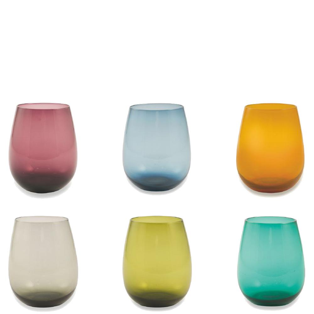 Набор цветных стаканов Villa D'este 6шт