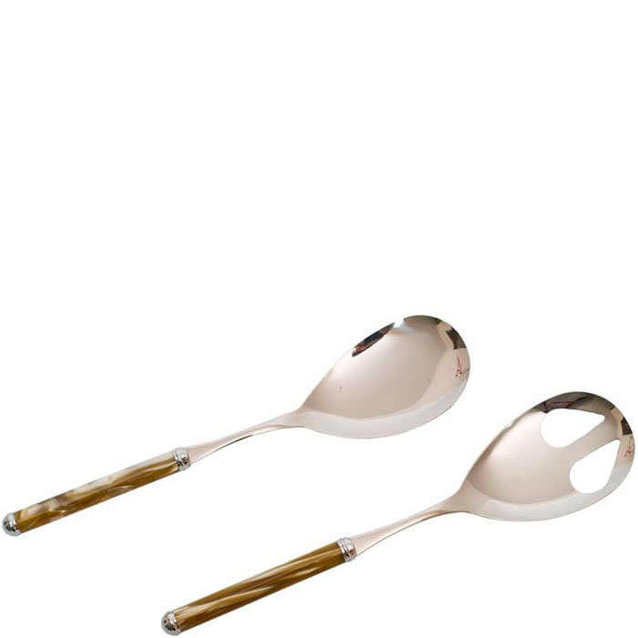 Набор приборов для салата Rivadossi Rodi с бежевыми ручками