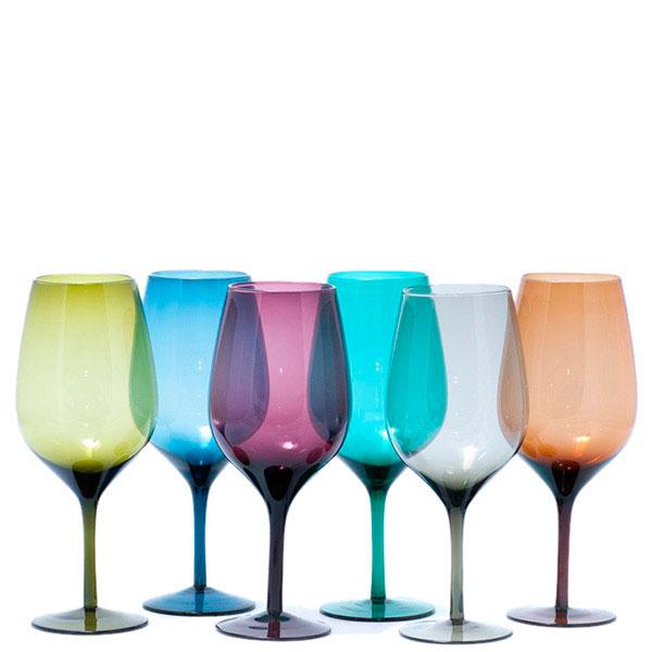 Набор больших бокалов Villa d'Este для вина 6шт