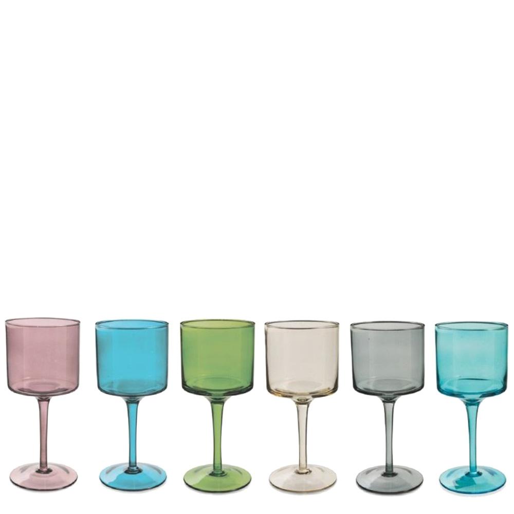 Набор бокалов Villa D'este Cromia разноцветные 450мл 6шт