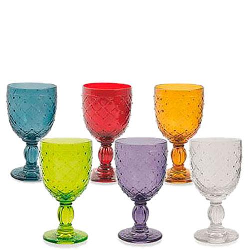 Набор из 6 бокалов Villa d'Este для вина разного цвета