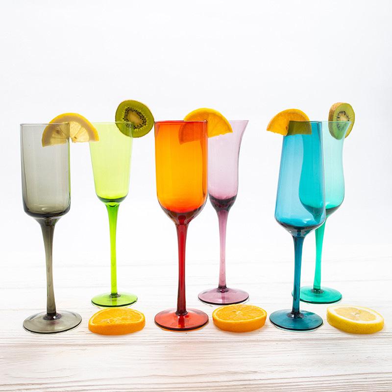 Разноцветный набор бокалов Villa D'este Cromia 200мл 6шт