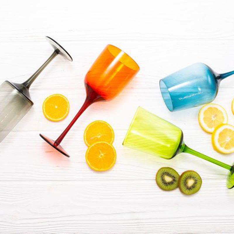 Набор разноцветных бокалов Villa D'este Cromia 420мл 6шт