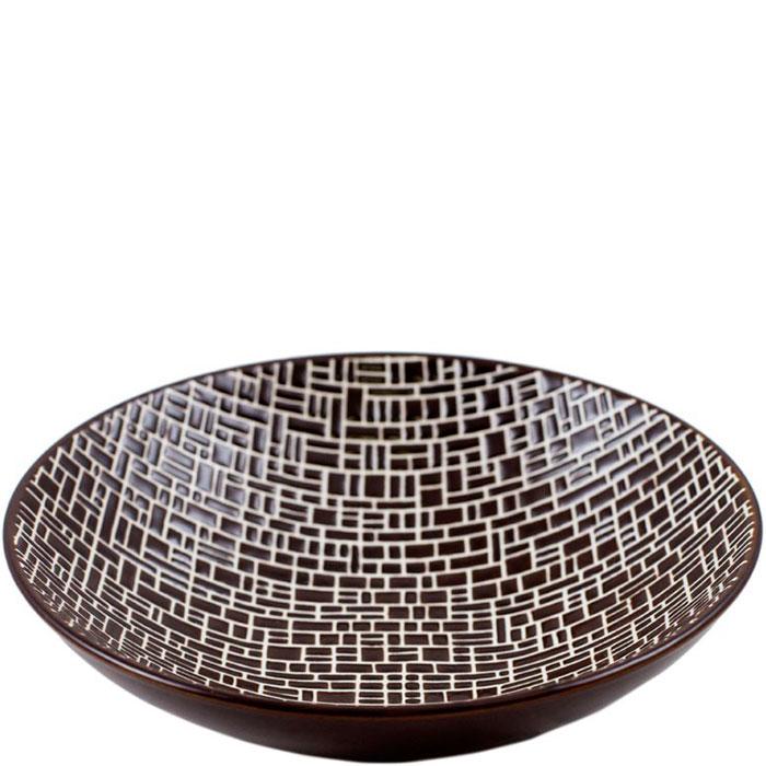 Набор тарелок для супа Bastide Cotton коричневого цвета