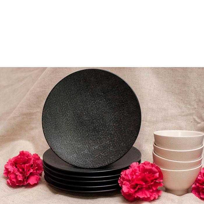 Набор десертных тарелок Bastide черного цвета