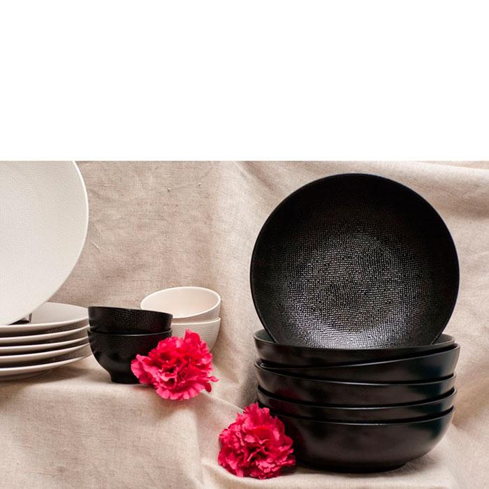 Набор салатных тарелок Bastide черного цвета