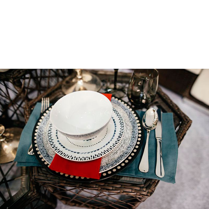 Набор обеденных тарелок Bastide Stella