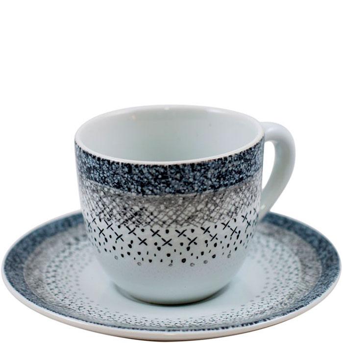 Набор чашек с блюдцем для кофе Bastide Stella 6шт