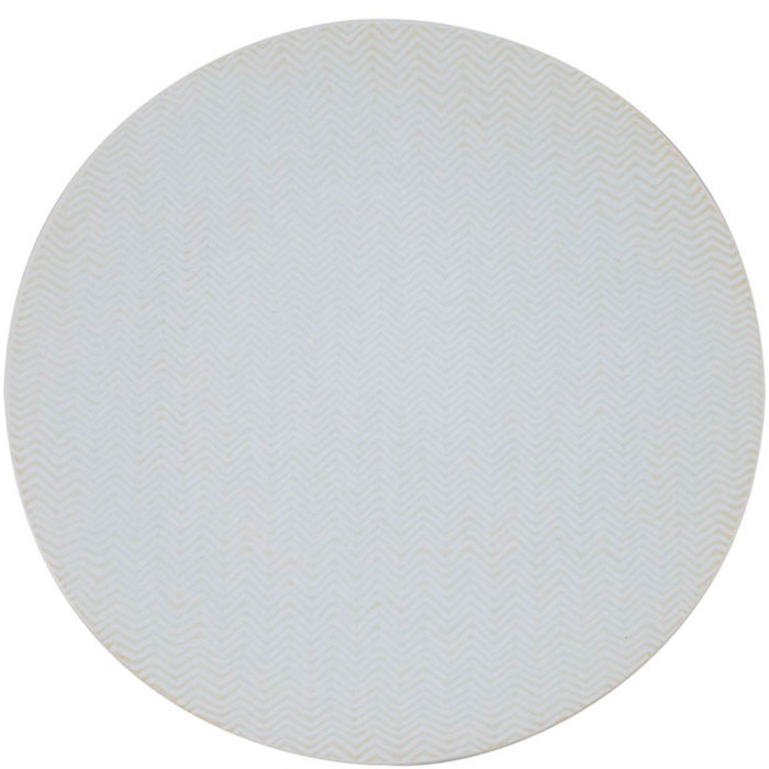 Набор обеденных белых тарелок Bastide Chevron