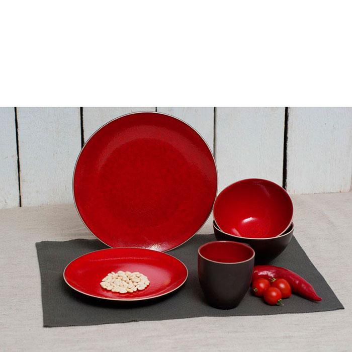 Тарелка красная Bastide Etna