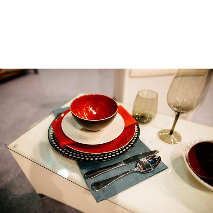 Пиала суповая Bastide Etna черно-красная