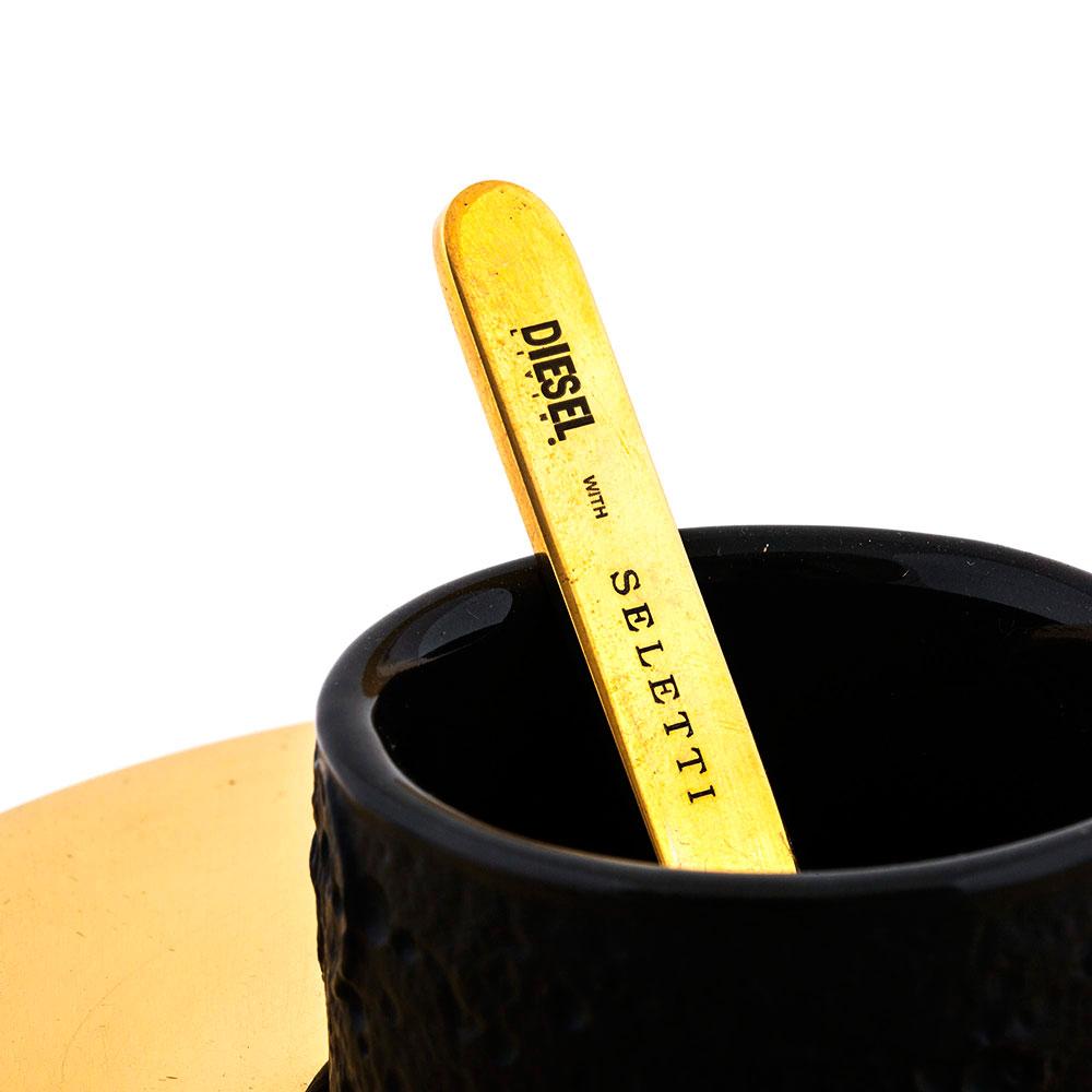 Кофейная чашка Seletti Lunar Coffee Set с блюдцем и ложкой