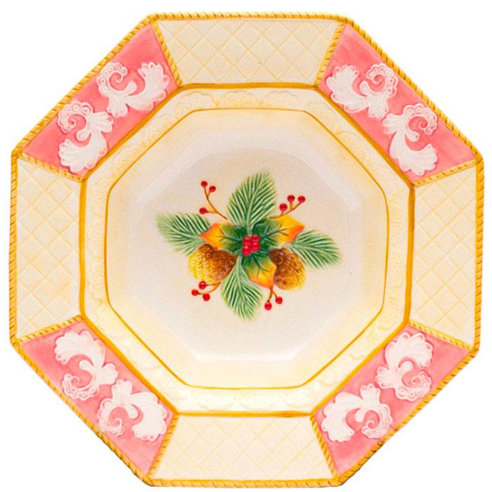 Восьмиугольное блюдо Palais Royal Розовая фантазия