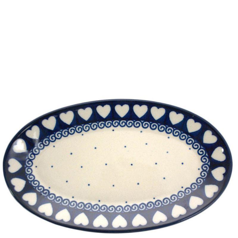 Блюдо Ceramika Artystyczna овальное Валентинки