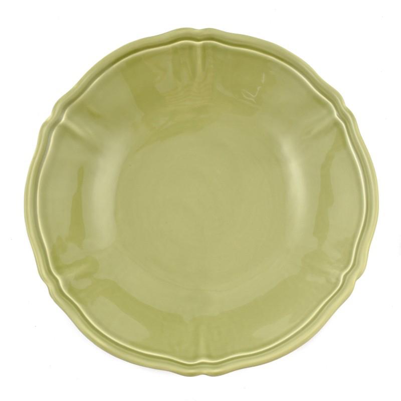 Салатник Villa Grazia Яркое лето салатового цвета 33см