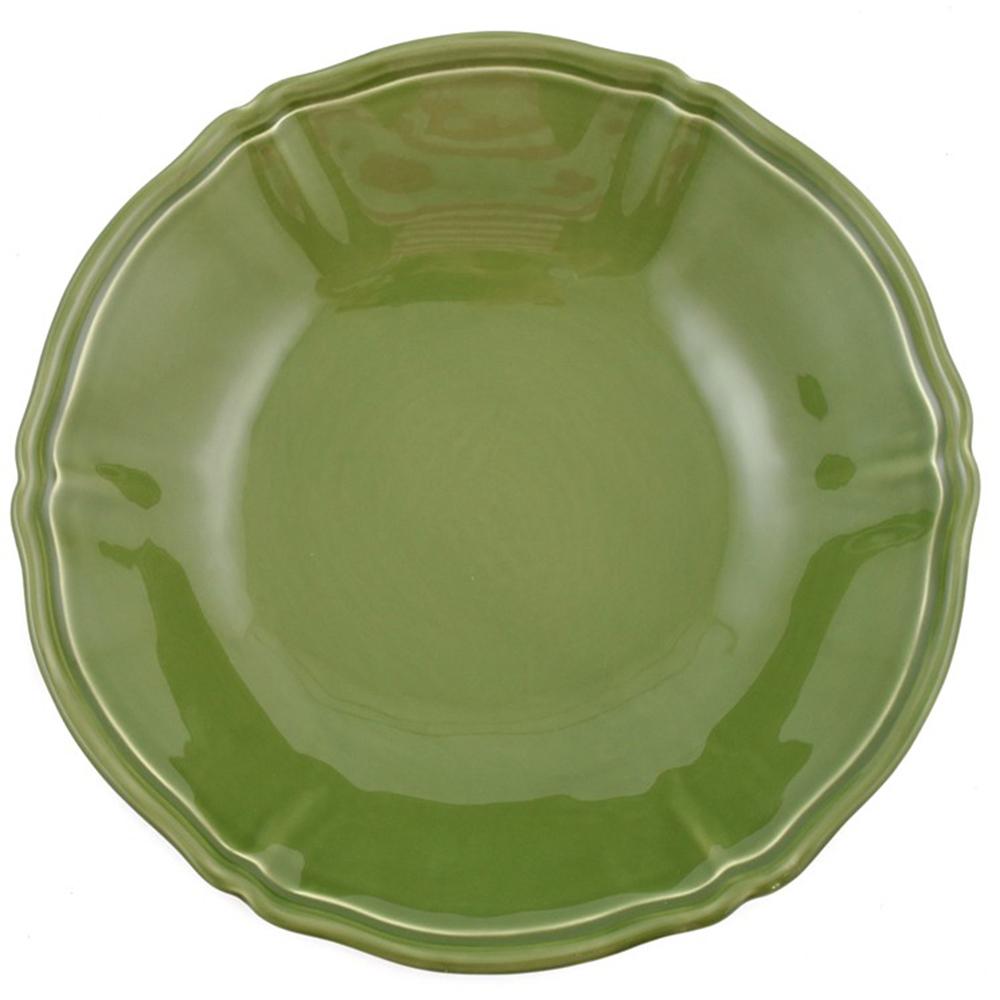 Зеленый салатник Villa Grazia Яркое лето 33см