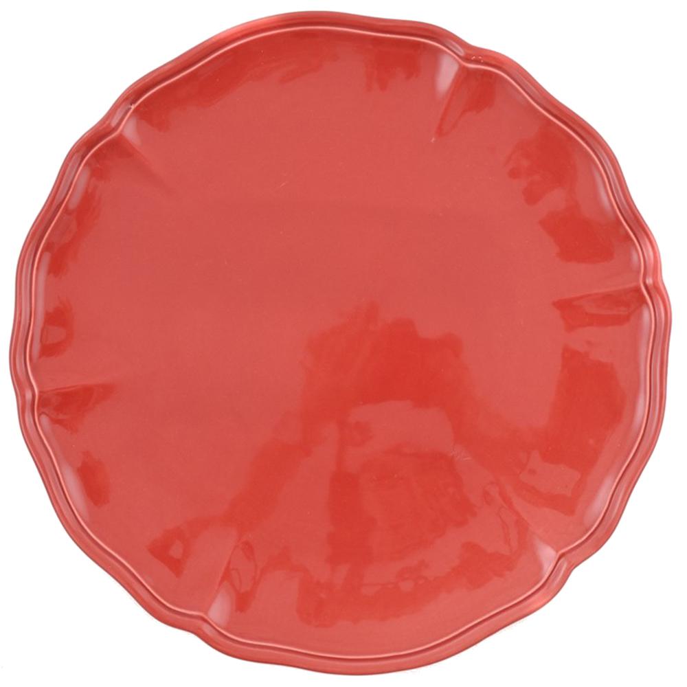 Набор подставных тарелок Villa Grazia Яркое лето красного цвета на 6 персон