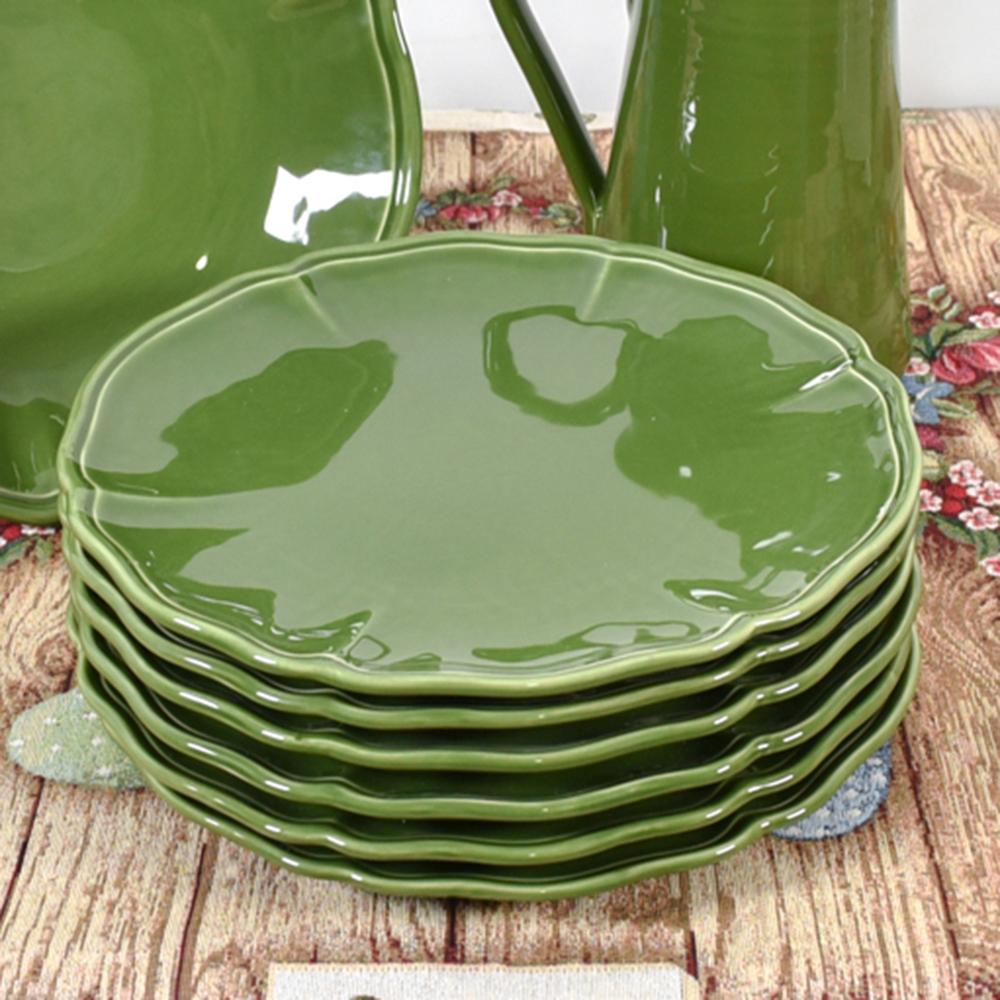 Тарелка подставная Villa Grazia зеленого цвета 33см