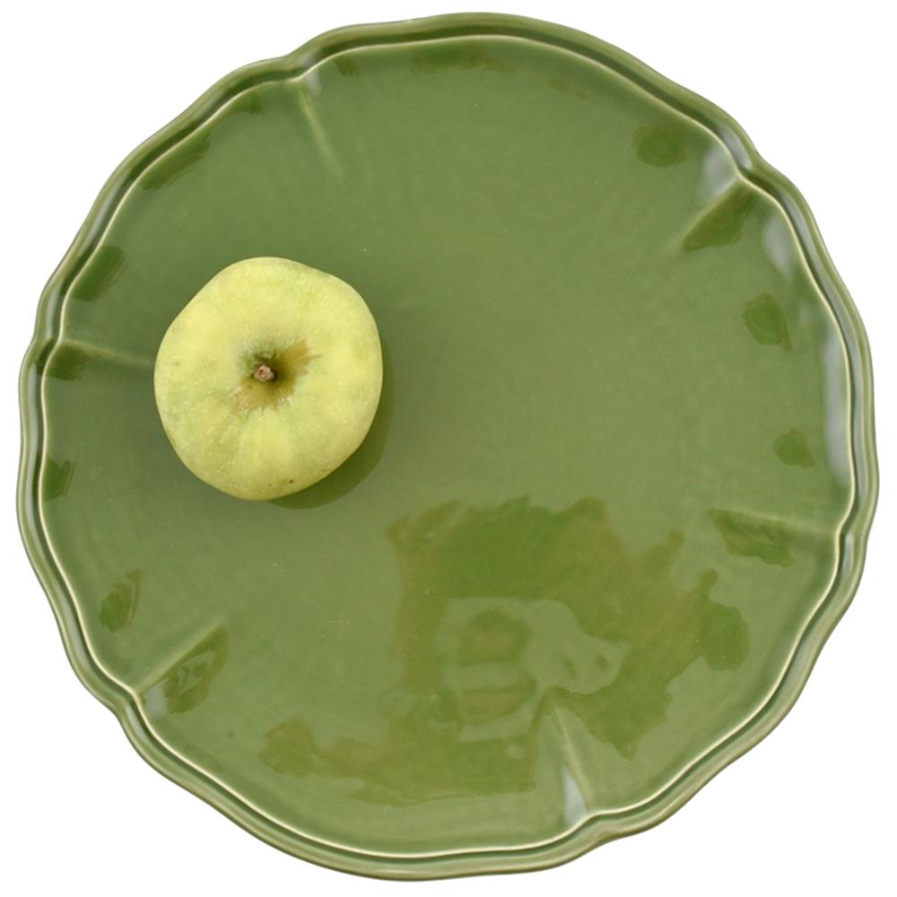 Набор подставных тарелок Villa Grazia Яркое лето зеленого цвета на 6 персон