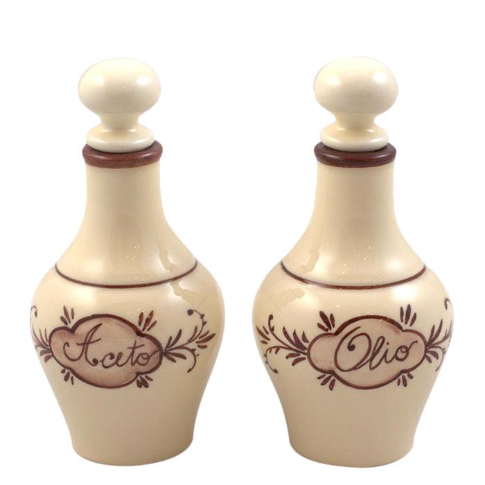 Емкости для уксуса и масла Capanni из керамики с узором