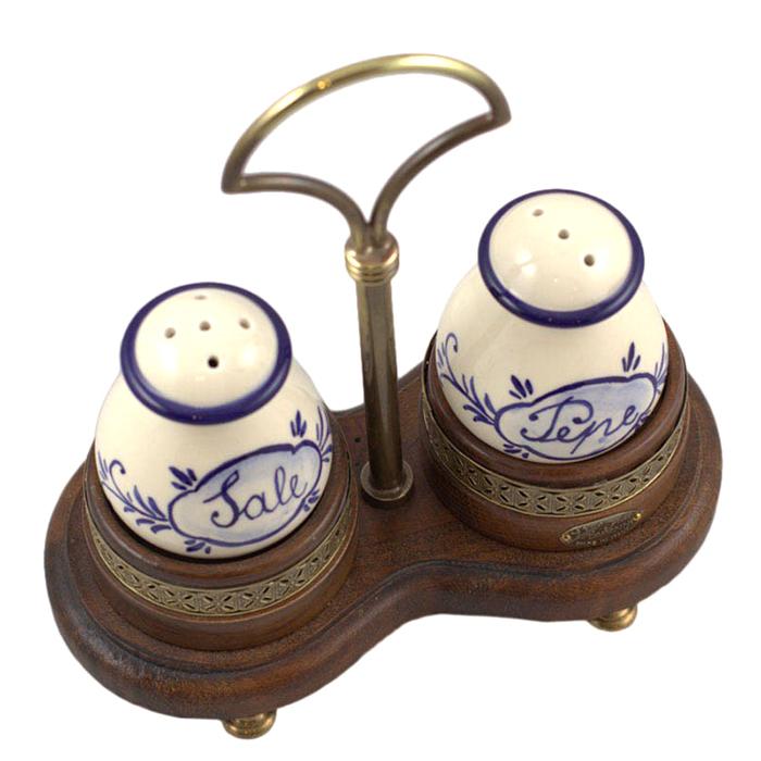 Набор для соли и перца Capanni Классика на подставке с ручкой
