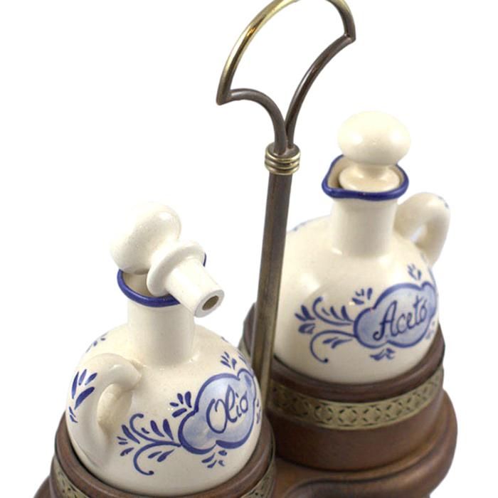 Набор для масла и уксуса Capanni с синим рисунком