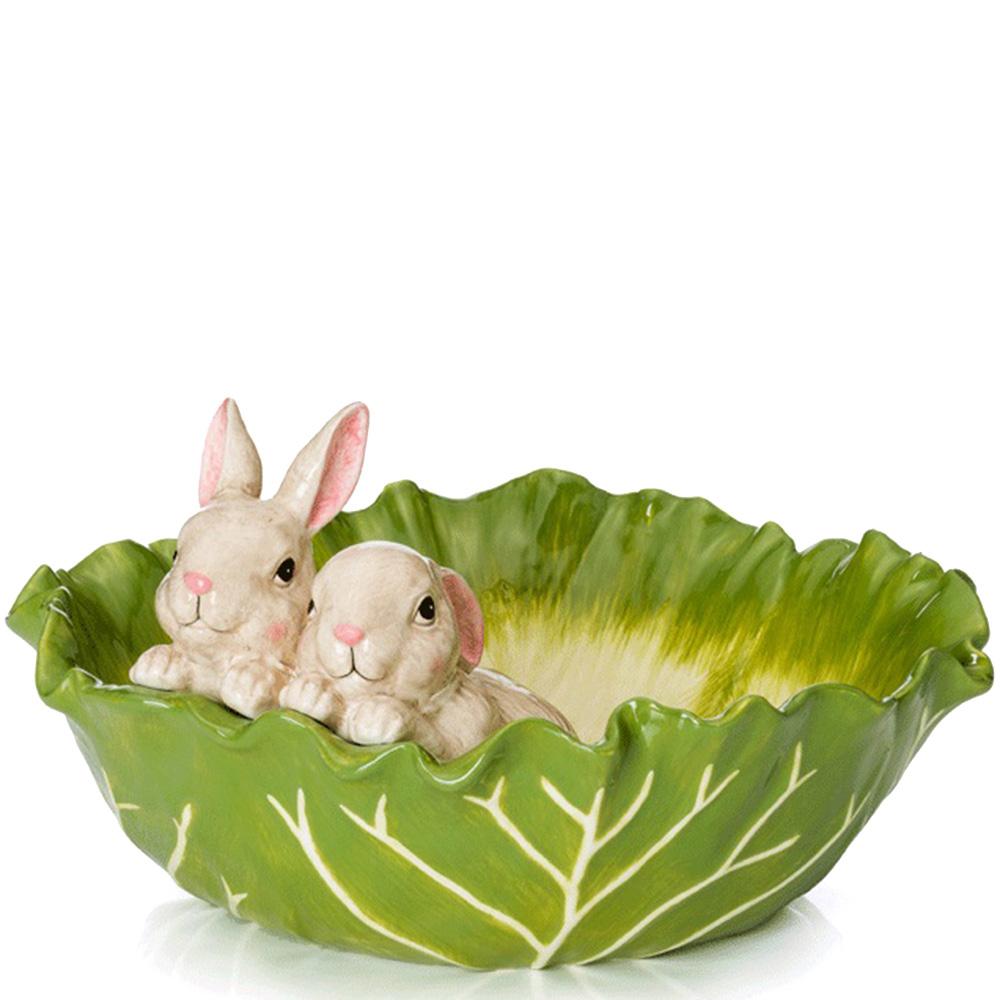 Салатник Palais Royal Кролики в капустном листе