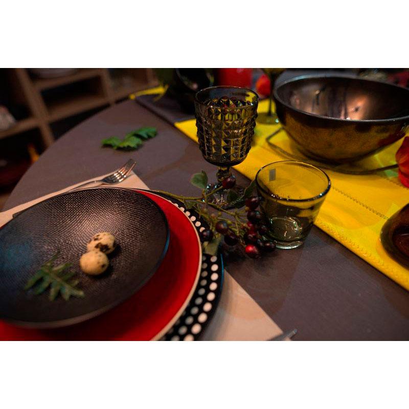 Набор из 6 стаканов для вина Comtesse Milano Samoa зеленого цвета