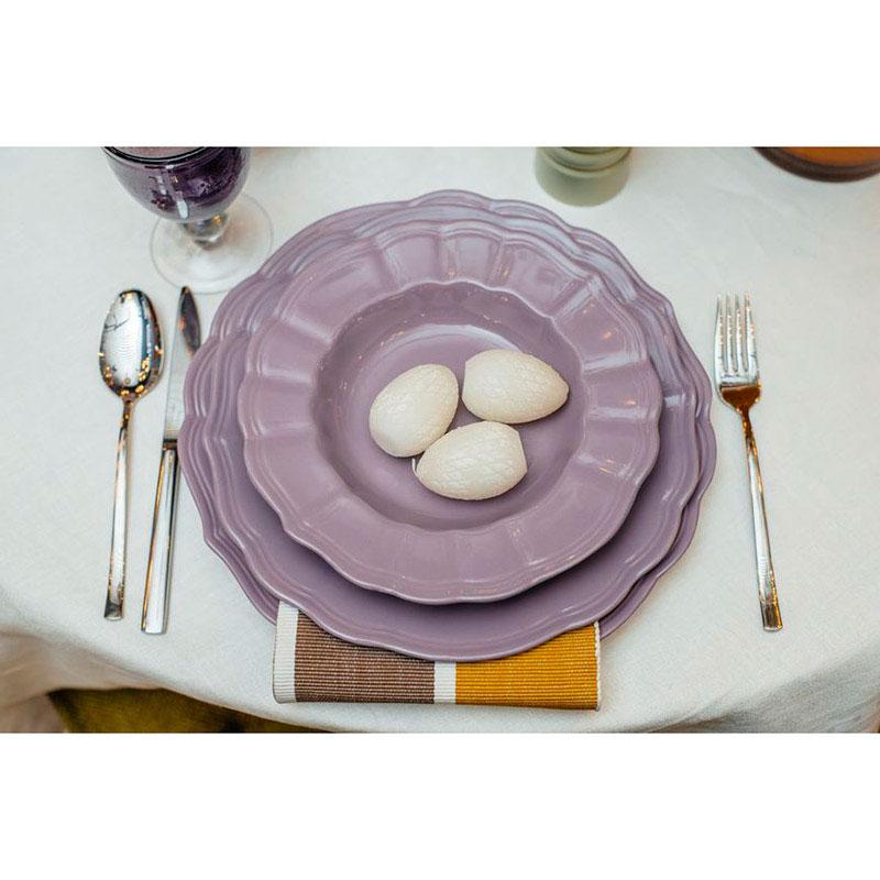 Набор из 6 обеденных тарелок Comtesse Milano Loto фиолетового цвета