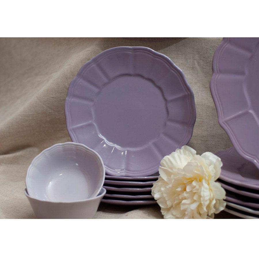 Десертная тарелка Comtesse Milano Loto фиолетового цвета
