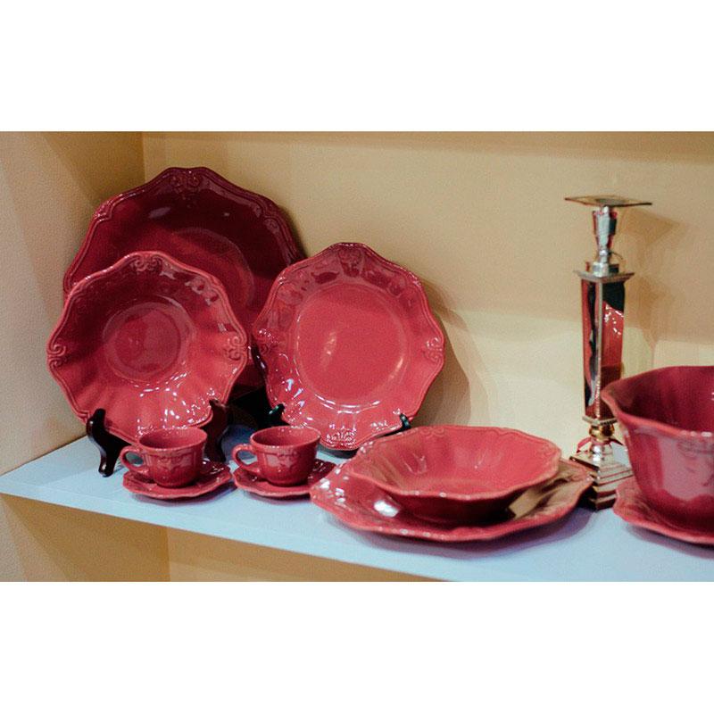 Набор из 6 тарелок Comtesse Milano Iris красного цвета