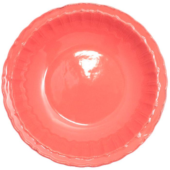 Коралловая тарелка Comtesse Milano Dalia из керамики