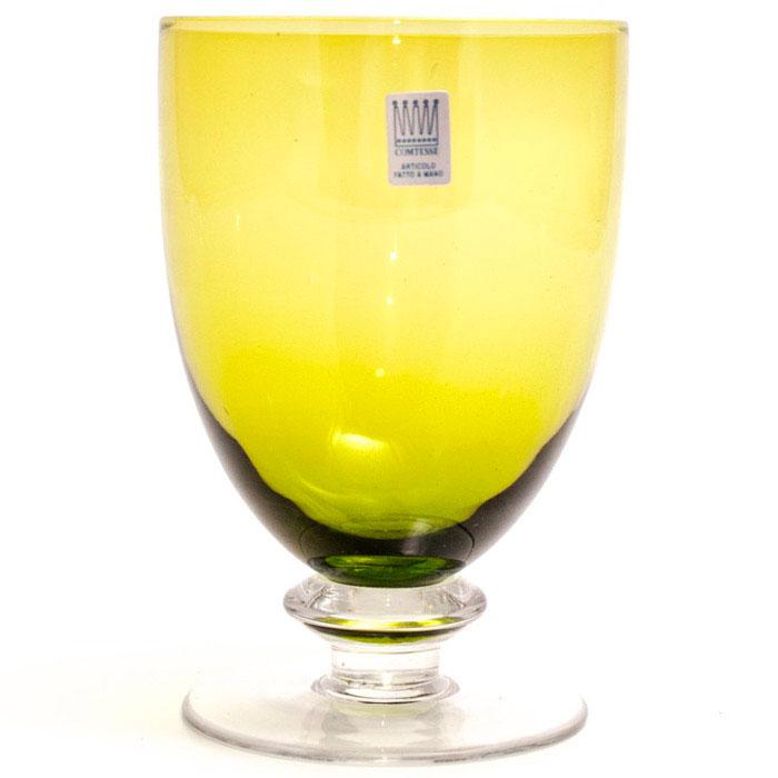 Набор бокалов для воды Comtesse Milano Tahiti зеленого цвета