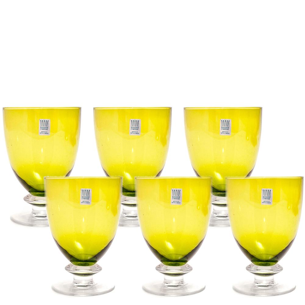 Набор бокалов для вина Comtesse Milano Tahiti зеленого цвета