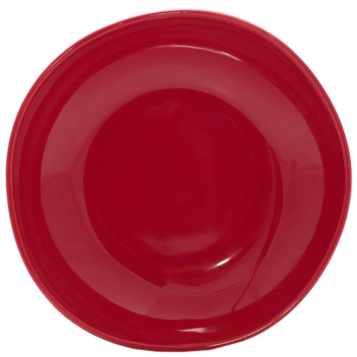 Набор тарелок для супа Comtesse Milano Ritmo из керамики красного цвета