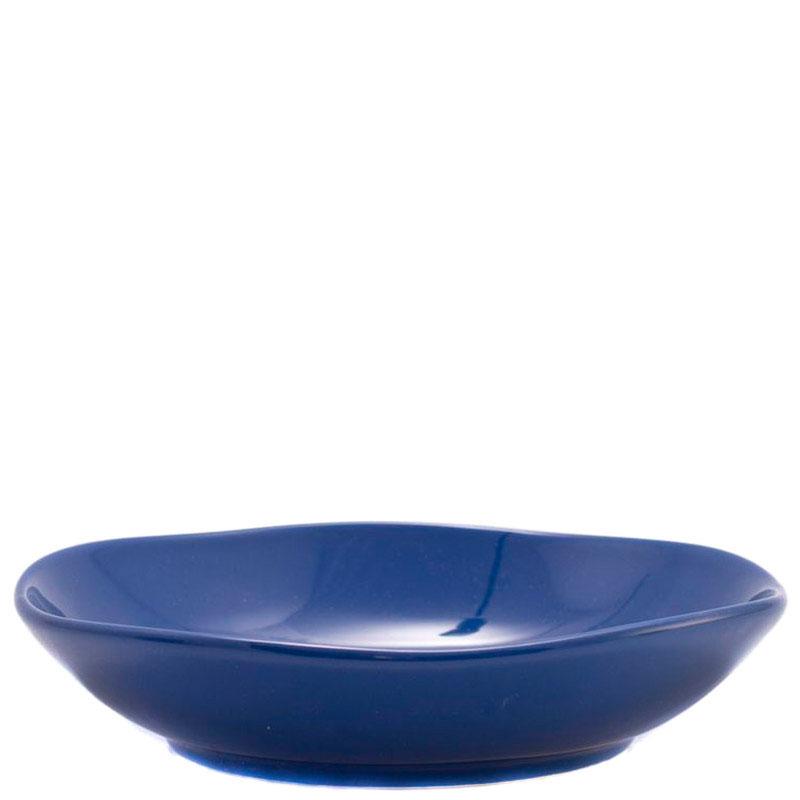 Синяя тарелка для супа Comtesse Milano Ritmo из керамики