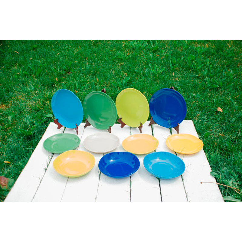 Набор тарелок для супа Comtesse Milano Ritmo синего цвета на 6 персон
