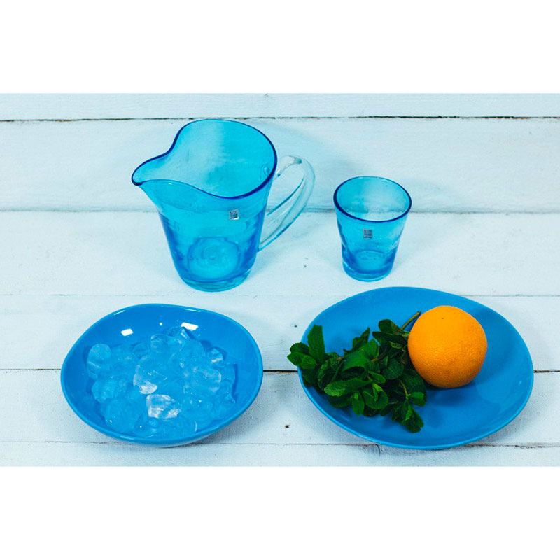 Набор тарелок Comtesse Milano Ritmo на 6 персон голубого цвета