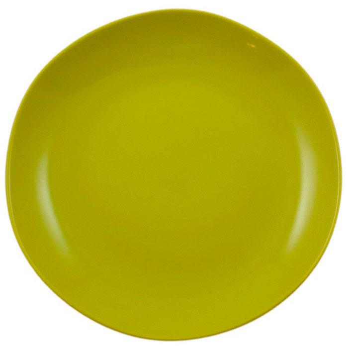 Набор керамических тарелок Comtesse Milano Ritmo на 6 персон зеленого цвета