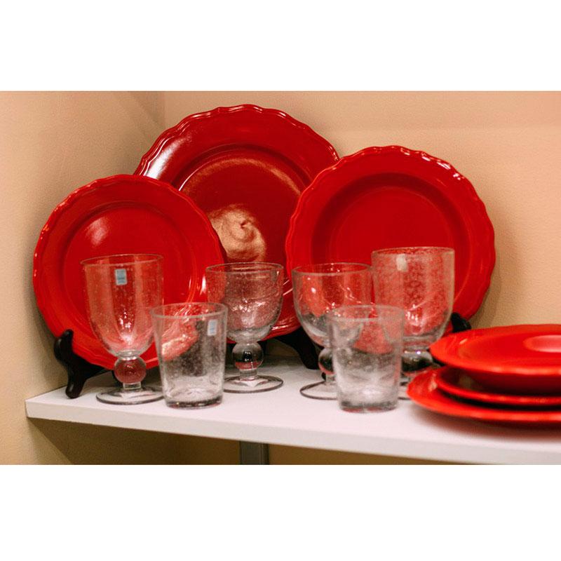 Глубокая тарелка Comtesse Milano Claire из керамики красного цвета