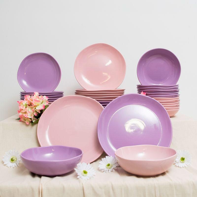 Обеденная тарелка Comtesse Milano Ritmo розового цвета