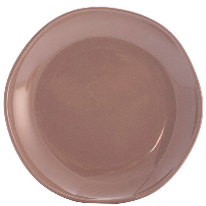 Десертная тарелка Comtesse Milano Ritmo коричнево-серого цвета
