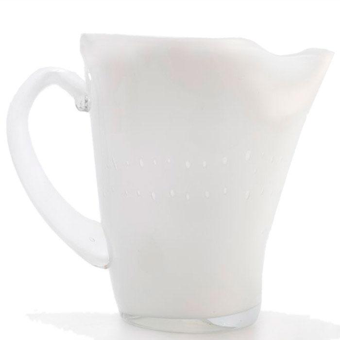 Белый стеклянный кувшин Comtesse Milano Samoa