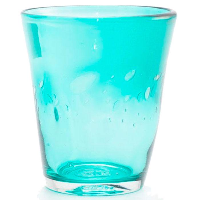 Набор стеклянных стаканов Comtesse Milano Samoa бирюзового цвета